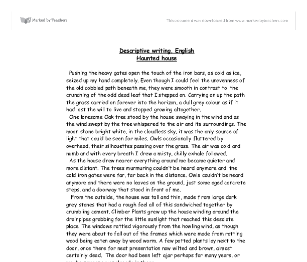 Places to write about in a descriptive essay